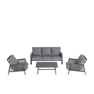 Nuu Garden Sicily 4-Piece Aluminum Strap Sofa Set