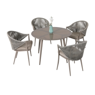 Nuu Garden Delphi 5 piece Strap Dining Table