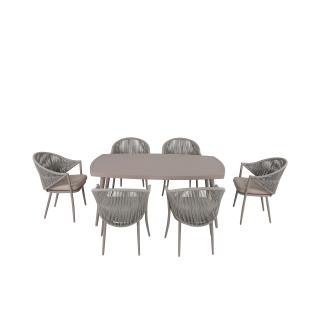 Nuu Garden Delphi  7-piece Strap Dining Set