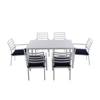 Nuu Garden Galilee 7-piece  Aluminum Dining Set
