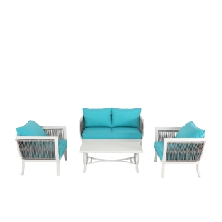 Nuu Garden Lamia 4-piece Aluminum Wicker Sofa Set