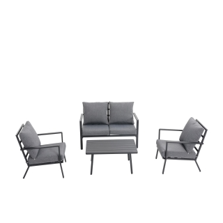 Nuu Garden Corinth 4-piece Aluminum Lounge Set