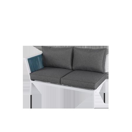 Nuu Garden Aegean Double Strap Sofa Right Armrest