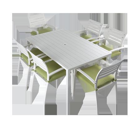 Nuu Garden Samos 7-piece Aluminum Dining Set