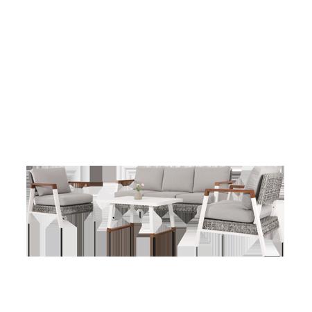 Nuu Garden Ionia 4-piece Aluminum Sofa Set