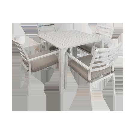 Nuu Garden Galilee 5-piece  Aluminum Dining Set