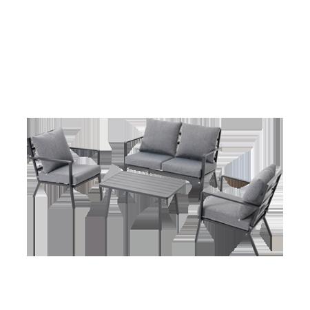 Nuu Garden Corinth 4-piece Aluminum Lounge Set