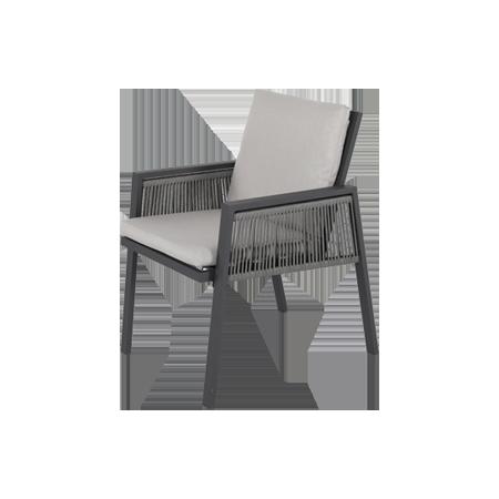 Nuu Garden Sicily Aluminum Strap Dining Chair