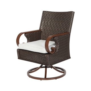 Nuu Garden Brooks Swivel Dining Chair