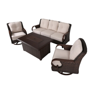 Nuu Garden Brooks 4-piece Fire Pit Sofa Set