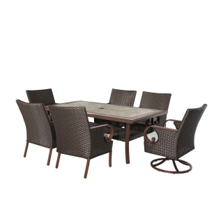 Nuu Garden Brooks 7-piece wicker dining set