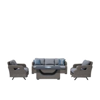 Nuu Garden Somerest 4-piece wicker sofa set
