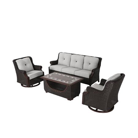 Nuu Garden Lessen 4 piece wicker sofa set
