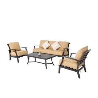 Nuu Garden Marcy 4-piece Aluminum Sofa Set