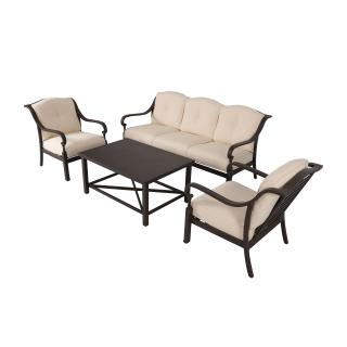 Nuu Garden Denali 4-piece aluminum sofa set