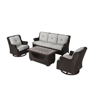 Nuu Garden Lessen 4 piece wicker sofa set