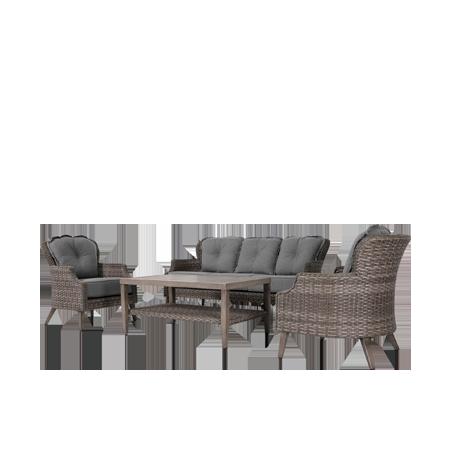 Nuu Garden Tenaya 4 piece Wicker Sofa Set