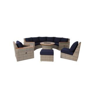 Nuu Garden Livermore 7-piece Wicker Sofa Set
