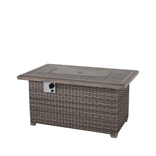 Nuu Garden Tenaya Wicker Fire Pit Table