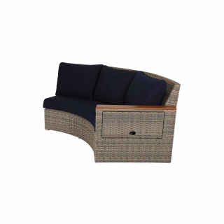 Nuu Garden Livermore Double Wicker Sofa With Left Armrest