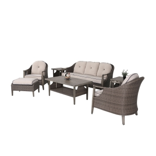 Nuu Garden Baker 7-piece Wicker Sofa Set