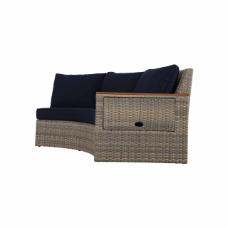 Nuu Garden Livermore Double Wicker Sofa With Right Armrest