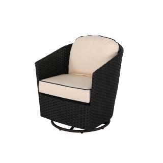 Nuu Garden Wheeler Rattan Swivel Chair