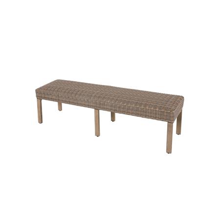 Nuu Garden Nevada Wicker Bench