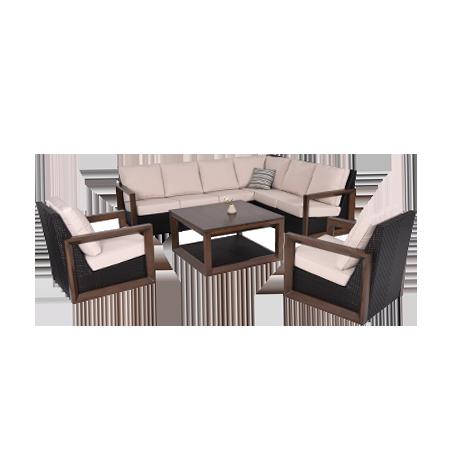Nuu Garden Delano 7-piece Sectional Sofa Set