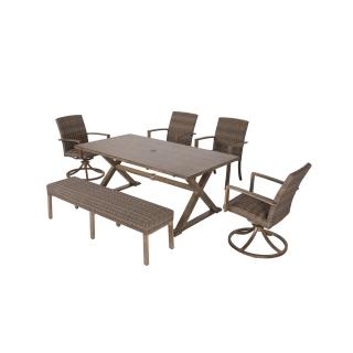 Nuu Garden Nevada 6-piece Wicker Sofa Set