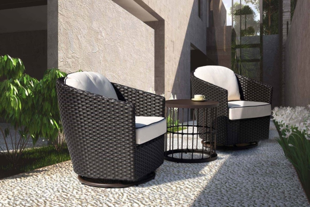 Nuu Garden Wheeler 3-piece Lounge Bistro Set
