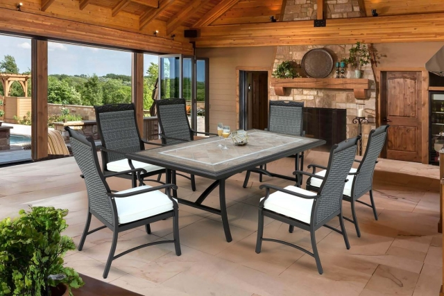Nuu Garden Russell 7-piece Wicker Dining Set