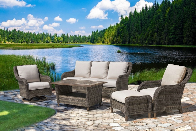 Nuu Garden Mitchell 5 piece Wicker Sofa Set